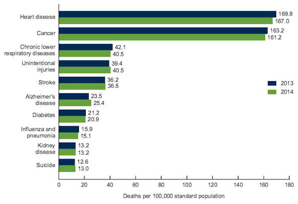 the main causes of death in the united states